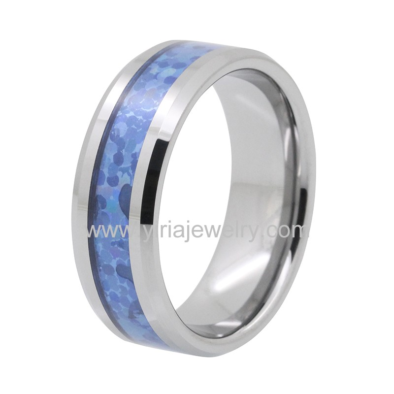 High polished tungsten carbide rings wedding bands for men